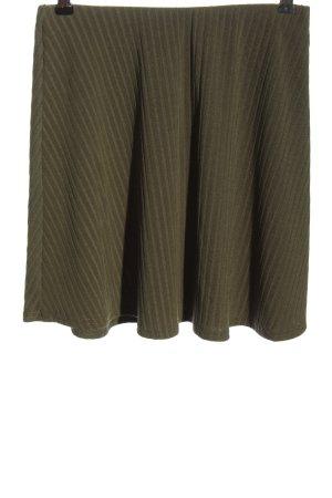 ASOS DESIGN Mini rok khaki gestreept patroon casual uitstraling