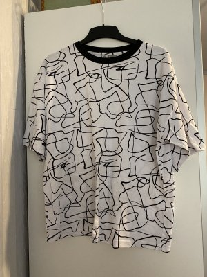 ASOS DESIGN Oversized shirt zwart-wit