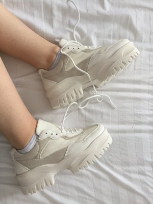 Asos Lace-Up Sneaker white-oatmeal