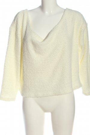 ASOS DESIGN Maglione lavorato a maglia bianco sporco stile casual