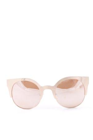 Asos eckige Sonnenbrille roségoldfarben-altrosa Street-Fashion-Look