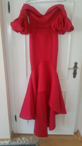 Asos Robe de soirée rouge-rouge fluo