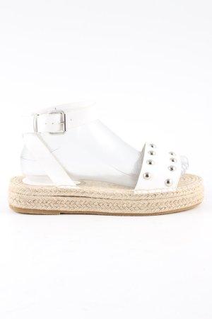 Asos Alpargatas blanco-crema look casual