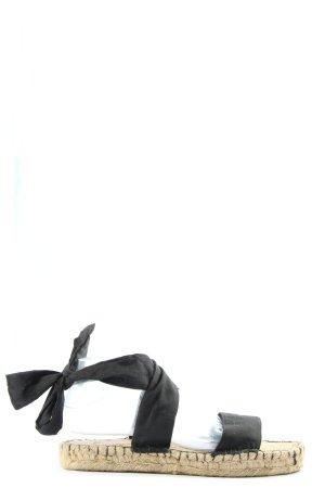 Asos Espadryle czarny W stylu casual