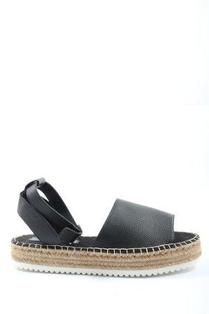 Asos Espadrille sandalen zwart casual uitstraling