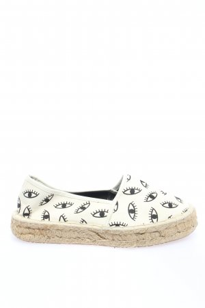 Asos Espadrille Sandals natural white-black allover print casual look