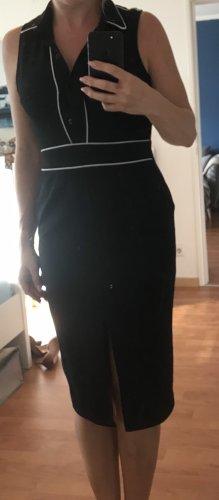 ASOS etuikleid, 36, schwarz mit weißem Saum
