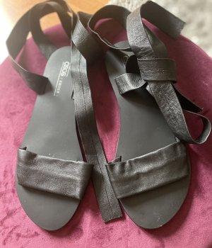 Asos Romeinse sandalen zwart Leer