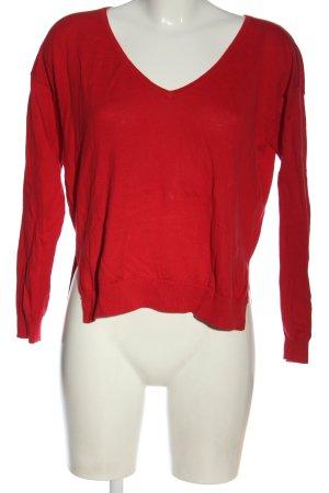 Asos Cienki sweter z dzianiny czerwony W stylu casual