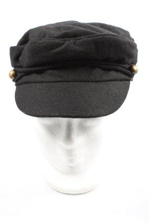 Asos Flatcap schwarz meliert Casual-Look