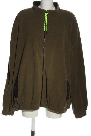 Asos Fleece Jackets khaki casual look