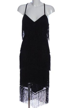 Asos Vestido con flecos negro estilo extravagante