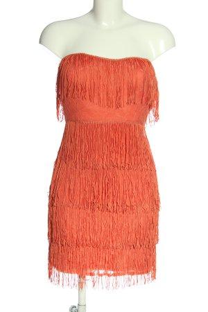 Asos Robe à franges orange clair élégant