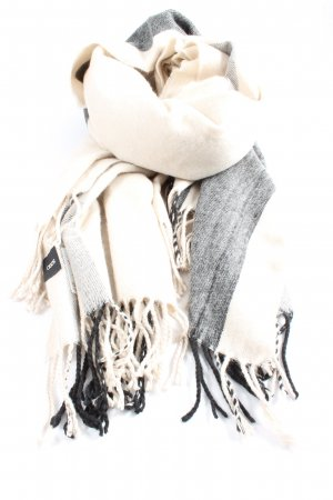 Asos Fringed Scarf cream-light grey flecked casual look