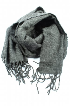 Asos Fringed Scarf light grey flecked casual look