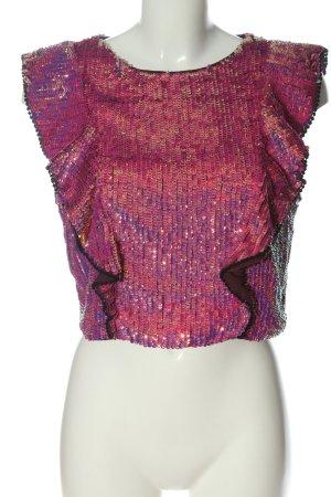 Asos Glanzende blouse roze glitter-achtig