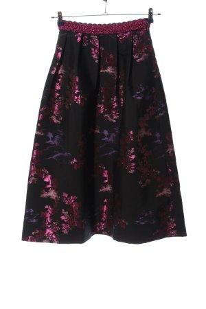 Asos Rozkloszowana spódnica różowy Abstrakcyjny wzór Elegancki