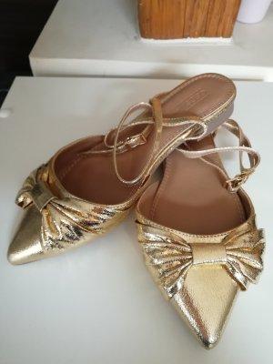 Asos Gold Ballerina Mules 37