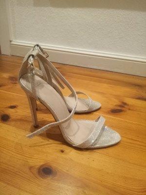Asos Gold Sandalette Sandale 38 High Heels Hochzeit