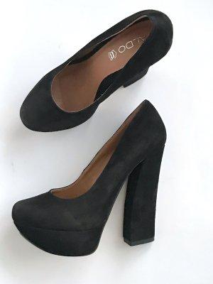 ASOS Gr 39 Pumps High Heels schwarz Echtleder Vintage Blogger Topshop Zara Massimo