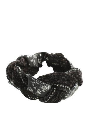 Asos Haarband schwarz-weiß Blumenmuster Casual-Look