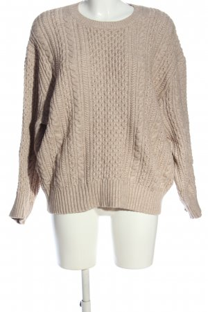 Asos Crochet Sweater cream cable stitch casual look