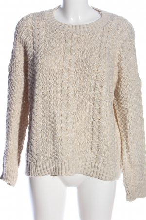 Asos Crochet Sweater brown cable stitch casual look
