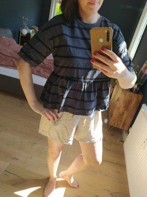 ASOS DESIGN Stripe Shirt black-dark grey