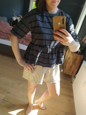 ASOS DESIGN Gestreept shirt zwart-donkergrijs