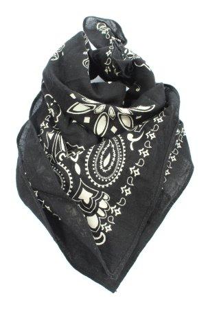 Asos Foulard noir-blanc imprimé allover style décontracté