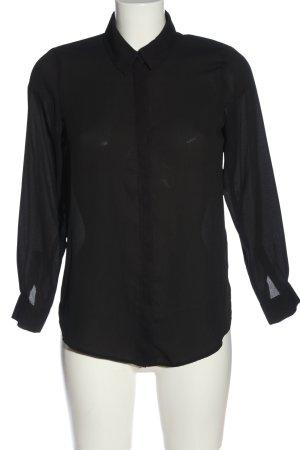 Asos Hemd-Bluse schwarz Casual-Look