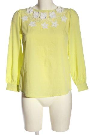 Asos Hemd-Bluse blassgelb-weiß Elegant