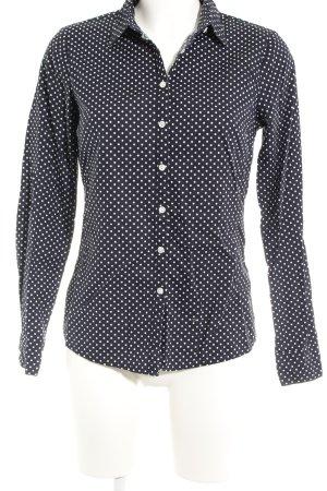 Asos Hemd-Bluse dunkelblau-weiß Punktemuster Casual-Look