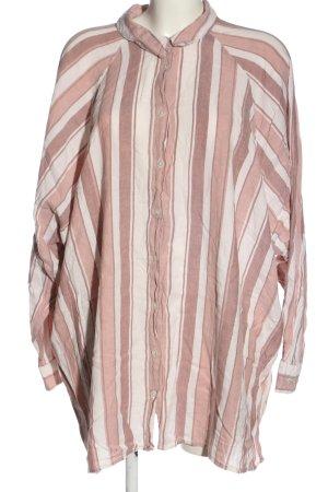 Asos Hemd-Bluse weiß-pink Allover-Druck Casual-Look