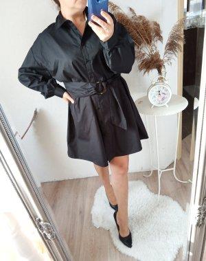 Asos Vestido tipo blusón negro-marrón