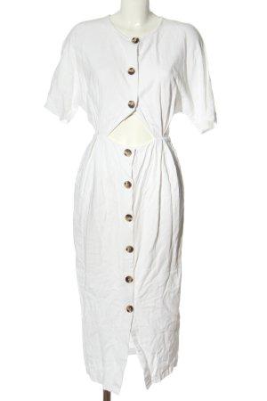 Asos Koszulowa sukienka biały W stylu casual