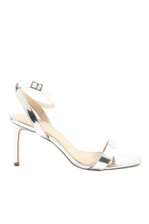 Asos High Heel Sandaletten silberfarben Elegant