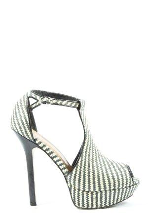 Asos High Heels schwarz-wollweiß Allover-Druck Elegant