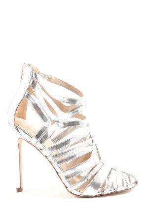Asos High Heels silberfarben Glanz-Optik