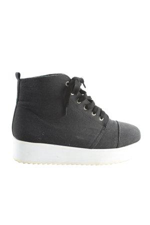 Asos High Top Sneaker schwarz Casual-Look