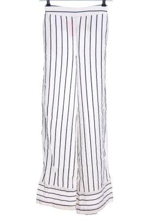 Asos High-Waist Hose weiß-schwarz Streifenmuster Casual-Look