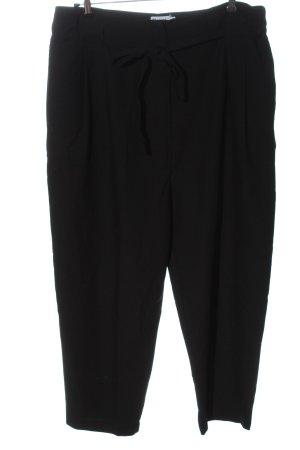 Asos Spodnie z wysokim stanem czarny W stylu biznesowym