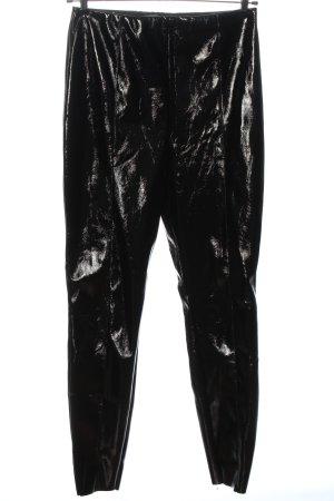 Asos Spodnie z wysokim stanem czarny Elegancki
