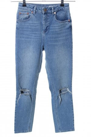 Asos Hoge taille jeans blauw casual uitstraling