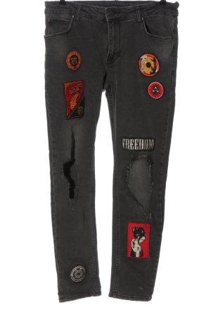 Asos High Waist Jeans schwarz Casual-Look
