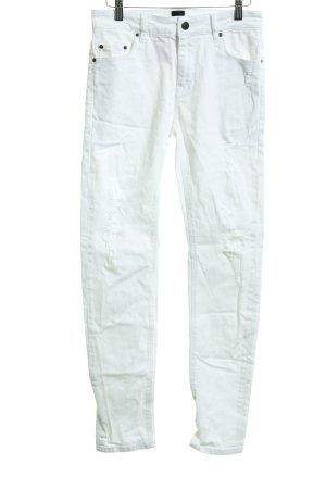Asos Jeans taille haute blanc Éléments de Rivet