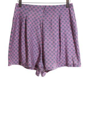 Asos High-Waist-Shorts lila-hellgrau grafisches Muster Casual-Look
