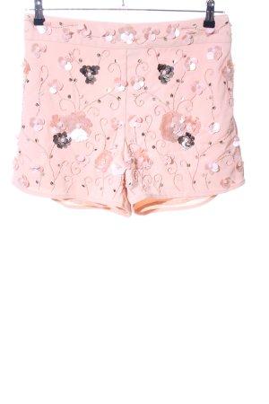 Asos High-Waist-Shorts pink Blumenmuster Elegant
