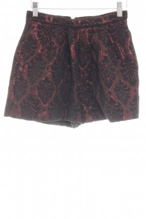 Asos High-Waist-Shorts schwarz-rot Allover-Druck Casual-Look