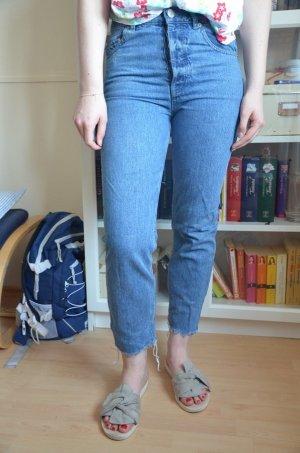 Asos Jeans taille haute bleu acier-bleuet